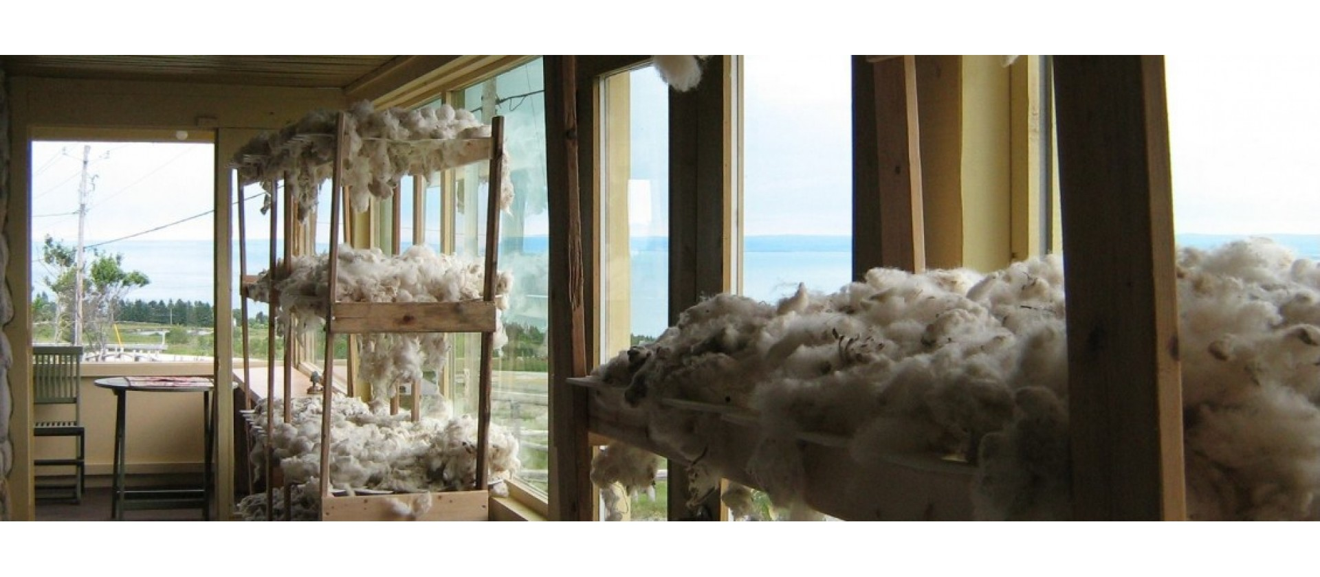 Séchage laine de mouton Charlevoix Pure Laine